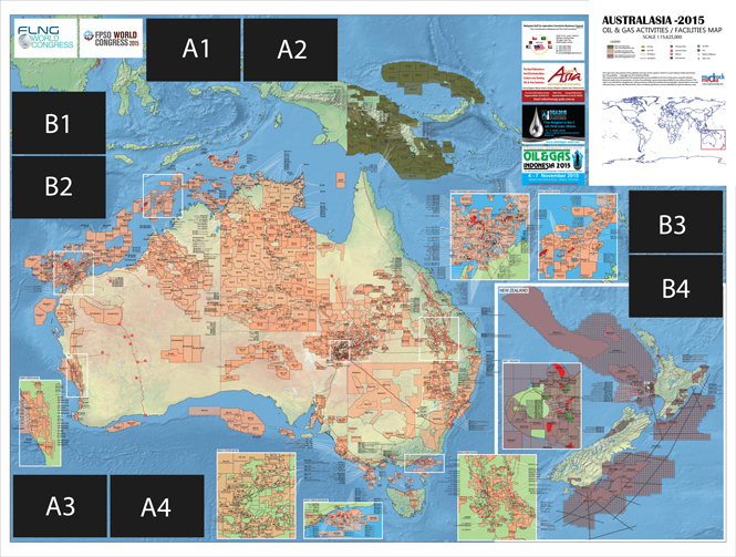 Australasia oil and gas map 2015 adv