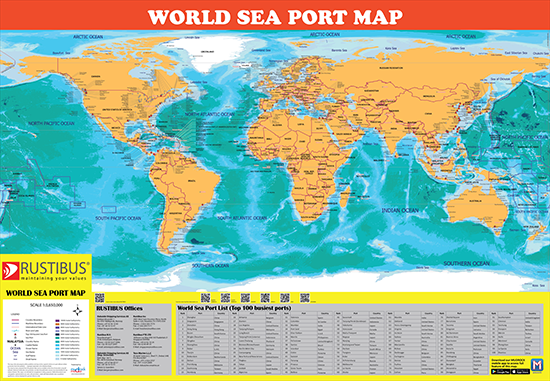Rustibus World Sea Port Map