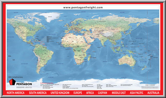 World Map Pentagon