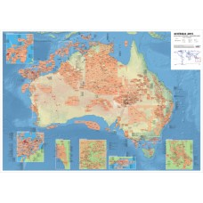 Australia Oil and Gas Map - A0 Size
