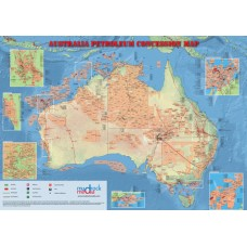 Australia Oil and Gas Map - A4 Size