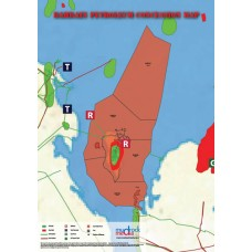 Bahrain Oil and Gas Map - A4 Size