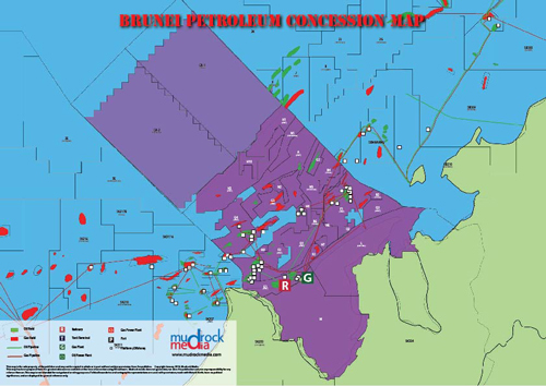 Brunei oil and gas map a4 size gumiabroncs Images