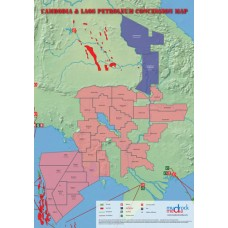 Cambodia & LAOS Oil and Gas Map - A4 Size