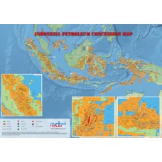 Indonesia Oil and Gas Map - A4 Size
