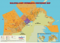 Malaysia (Eastern) Oil and Gas Map - A4 Size