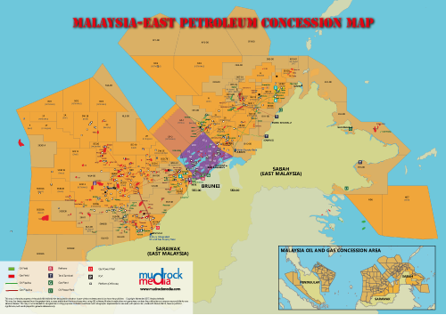 Malaysia Eastern Oil And Gas Map A Size - Gas map