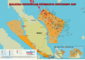 Malaysia (Peninsular) Oil and Gas Map - A4 Size