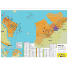 Malaysia Oil and Gas Map - A0 Size