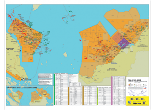 Malaysia Oil And Gas Map A Size - Gas map