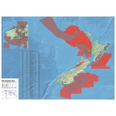 New Zealand Oil and Gas Map - A0 Size