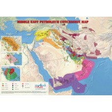 Middle East Oil and Gas Map - A4 Size