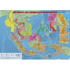 Southeast Asia Oil and Gas Map - A4 Size