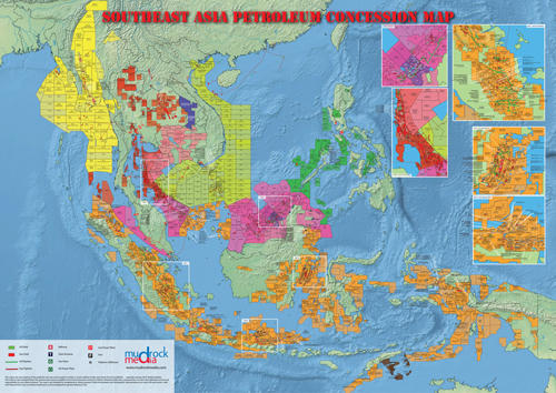 Southeast asia oil and gas map a4 size gumiabroncs Gallery