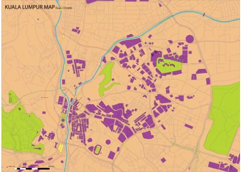 Kuala lumpur city road map a0 size gumiabroncs Choice Image