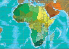 Africa Map - A0 Size