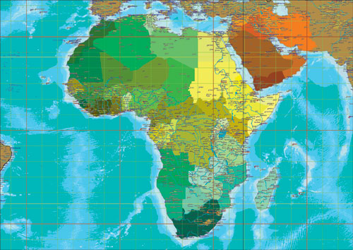Africa map a3 size gumiabroncs Image collections