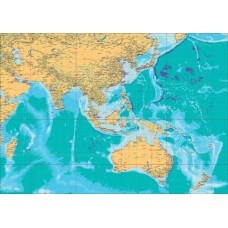 Asia Pacific Map - A3 Size