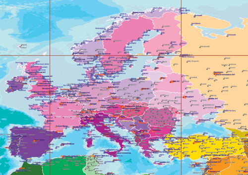 Europe map a3 size gumiabroncs Choice Image