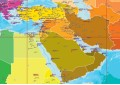 Middle East Map - A0 Size