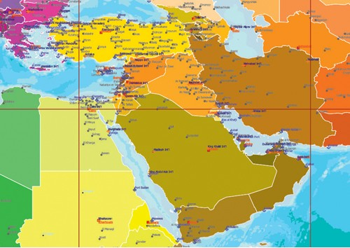 Middle east map a3 size gumiabroncs Image collections