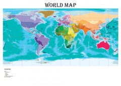 World Political Map - A0 Size