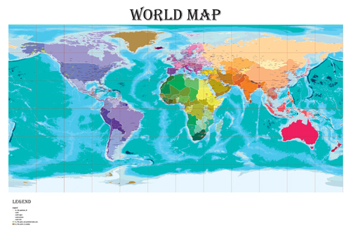 World Political Map A Size - Political map of the world