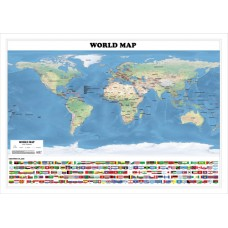 World Physical Map - A0 Size